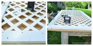 How To Build A Lattice Privacy Screen On A Budget With My Dad Four Generations One Roof