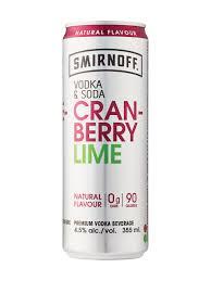 smirnoff vodka soda cranberry lime lcbo