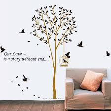 Trees Wall Sticker Birds Case Tree Wall Decal Quotes Vinyl Creative Flying Bird Stickers Diy Removable Decals Home Decor Stickers For Wall Decor Stickers Ninjadecorative Wall Paper Art Sticker Aliexpress