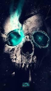 skull iphone wallpaper smoke
