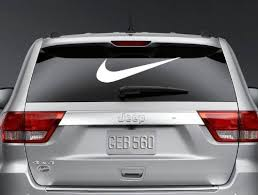 24 Swoosh Nike Logo Car Window Vinyl De Buy Online In Botswana At Desertcart