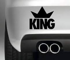 Amazon Com King Crown Jdm Vinyl Car Decal External Fitting Automotive