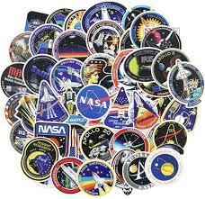 Amazon Com Nasa Stickers Decals 45pcs Space Stickers Pack For Kids Laptop Water Bottle Helmet Bike Skateboard Vinyl Arts Crafts Sewing