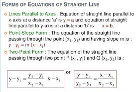 equations of straight lines a plus