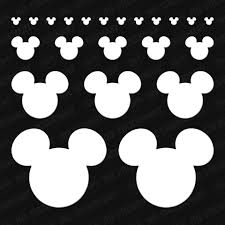 Disney Mickey Mouse Head Assorted 22pc Vinyl Decal Pack The Stickermart