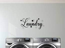Laundry 23 X 11 Vinyl Wall Quote Decal Sticker Bubbles Etsy