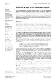 PDF) Plagiarism in South African management journals | Gideon P ...