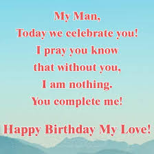 love birthday wishes for him