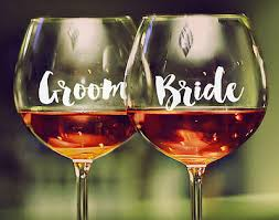 wine glass decal sticker bridal party