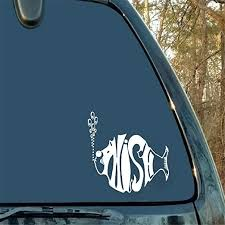 Amazon Com Gaoeer Car Sticker Car Decal For Lid Styles Phish Fish Car Sticker Window Laptop Die Cut De Home Kitchen