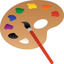 Art Palette With Brush | Artist palette, Free clip art, Clip art