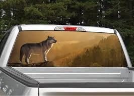 Wolf In The Sunset Rear Window Graphic Decal Truck Suv Etsy