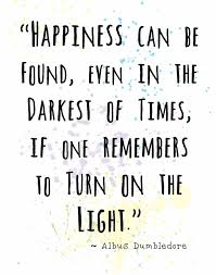 dumbledore harry potter quote wall art print happiness