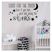 Decals Stickers Vinyl Art Home Garden Shoot For The Moon Even If You Miss Amoung Stars Wall Art Decal Sticker Picture Adrp Fournitures Fr
