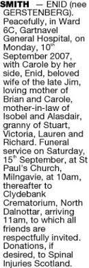 Enid Smith Obituary - Rugby, Warwickshire | Legacy.com