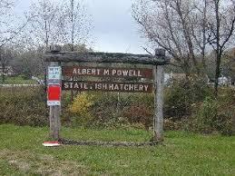 Photo of the Albert Powell Hatchery sign. | Aquaponics, Albert, Powell