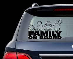 Big Hero Car Decal Big Hero Family Sticker Disney Baymax Decal Etsy
