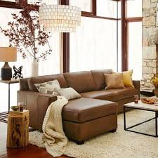 contemporary leather sofa decor