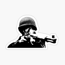 M1 Rifle Firearm Window Decal Sticker Usa Flag M1 Garand Rifle Decal Sticker