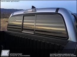 Custom American Flag Rear Window Decal Choose Your Size Importequipment