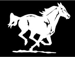 Mustang Horse Decal Running Equestrian Trailer Vinyl Car Window Sticker Graphic Horse Silhouette Mustang Horse Car Window Stickers