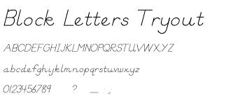 block letters tryout font script
