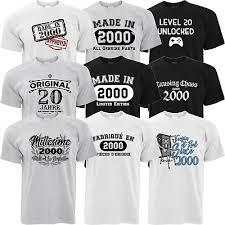 mens funny 20th birthday t shirt gift