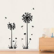 Dandelion Blowing In The Wind Wall Stickers Home Decor Wallpaper Tv Backdrop Wall Decor Stickers Pvc Wall Decals Accept Custom Decal Outlet Stickers Bathsticker Animals Aliexpress