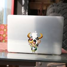 Cj179 Cartoon One Piece Milch Cow Head Chopper Decal Laptop Stickers For Apple Macbook Pro Air 13 Inch Laptop Cover Sticker Sticker Phone Sticker Iphonestickers Portable Aliexpress