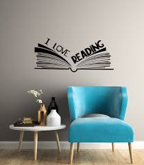 I Love Reading Vinyl Wall Decal Library Reading Corner Room Open Book Stickers Mural 3057di In 2020 Vinyl Wall Decals Kid Room Decor Vinyl Wall
