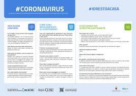 Coronavirus, un vademecum con le indicazioni del decreto #iorestoacasa