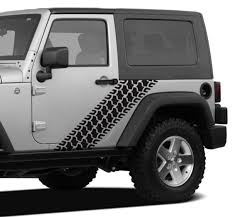 Jeep Tire Tread Body Side Jeep Decal Stickers Aftermarket Replacement Non Factory Custom Sticker Shop