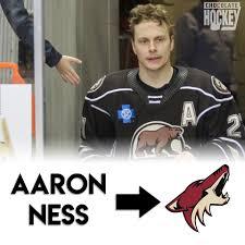 Congratulations to Aaron Ness, who has... - Chocolate Hockey   Facebook