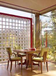 glass block designs of exterior walls