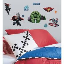 New Avengers Assemble Marvel Superheroes 28 Wall Decals Boys Room Decor Stickers Walmart Com Walmart Com