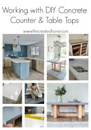 diy concrete counter and table tops