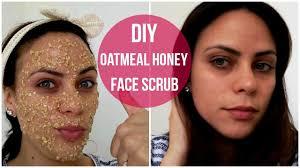 diy oatmeal honey face scrub you