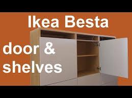 ikea besta shelves and door assembly