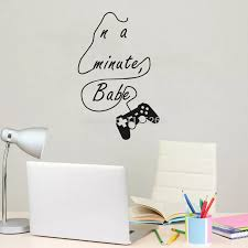 In A Minute Babe Game Wall Sticker Boys Room Wall Decals Carved Letter Quotes Kids Room Playroom Decor Stickers Boy Wall Decalsboys Room Aliexpress