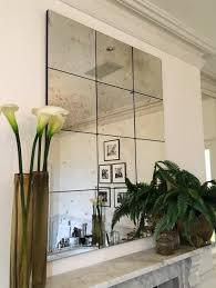 antiqued panelled mirrors bespoke