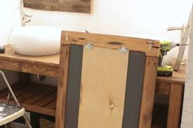 diy reclaimed wood frames the space