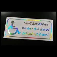 2x Handicap Sticker Sign Decal Vehicle Wheelchair Disabled Window Van
