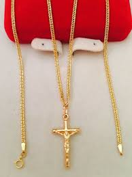 saudi gold necklace with cross pendant