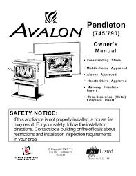 pendleton 745 790 owner s manual avalon