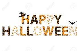 Feliz Halloween Letras Vector Palabras Para Invitaciones A Una