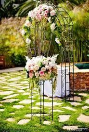 decorate a garden arch for a wedding