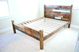 wooden bed frame support legs metal