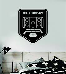 Ice Hockey Wall Decal Sticker Vinyl Art Bedroom Room Home Decor Quote Boop Decals