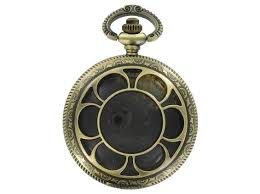 antique brass empty pocket watch