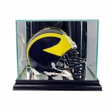 glass mini helmet display case nfl ncaa